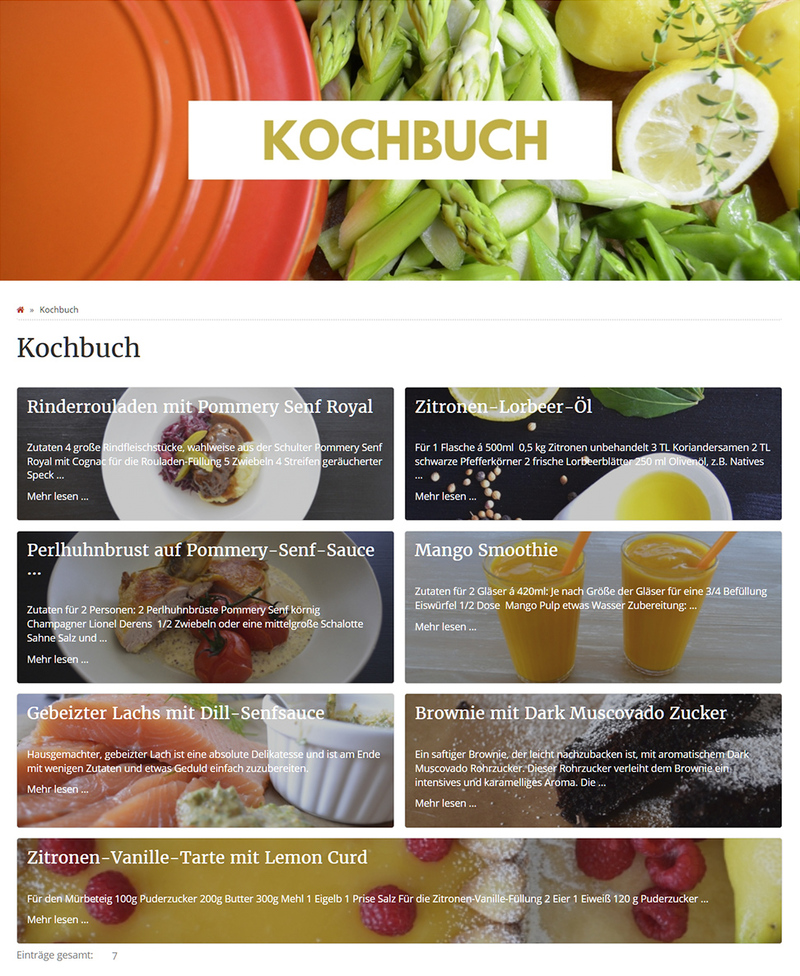 News Box als Kochbuch auf foodetage.de