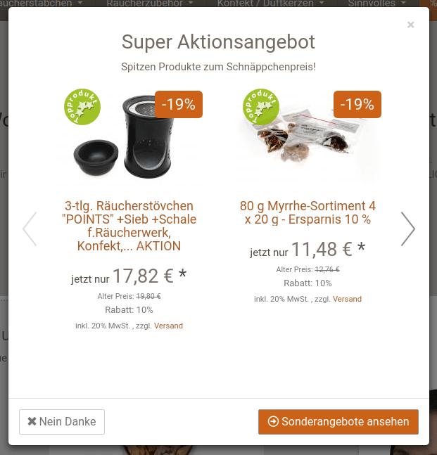 Aktionspopup bei sonnlicht.de