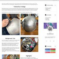 Newsdetailseite mit komplexem Custom Drop (für den Newsinhalt) und Custom Drop für den Autoren.