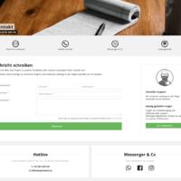 Kontaktseite mit Contact Form und Custom Drop.