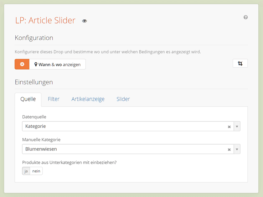 Article Slider Drop Übersicht