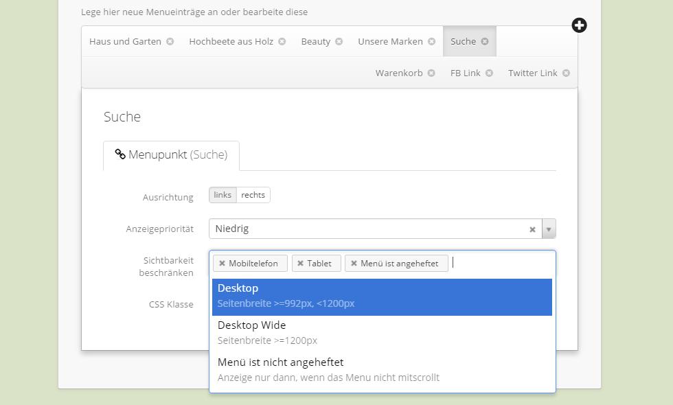 Sichtbarkeiten am Beispiel eines Sucheintrages