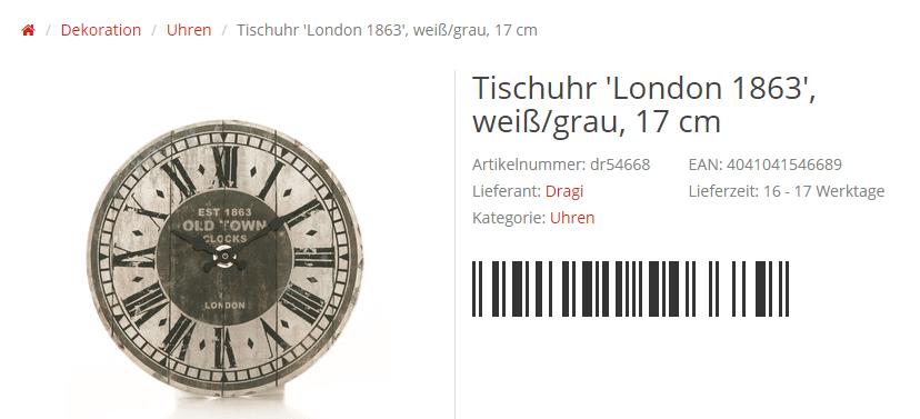 Ein Barcode im JTL-Shop via Custom Drop