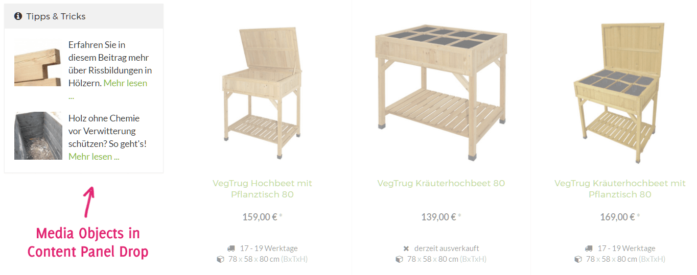 Media Objects als Beitragsteaser in der JTL-Shop Sidebar