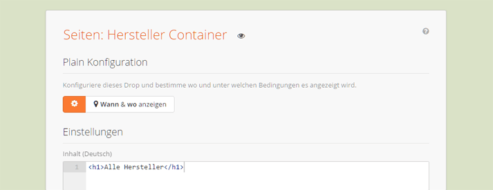 Ein Plain Drop als Container