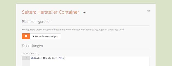 Ein Plain Drop als Container