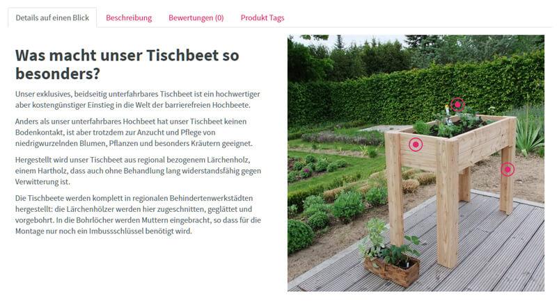 Integrierter Hotspot Banner in Tab auf Artikeldetailseite