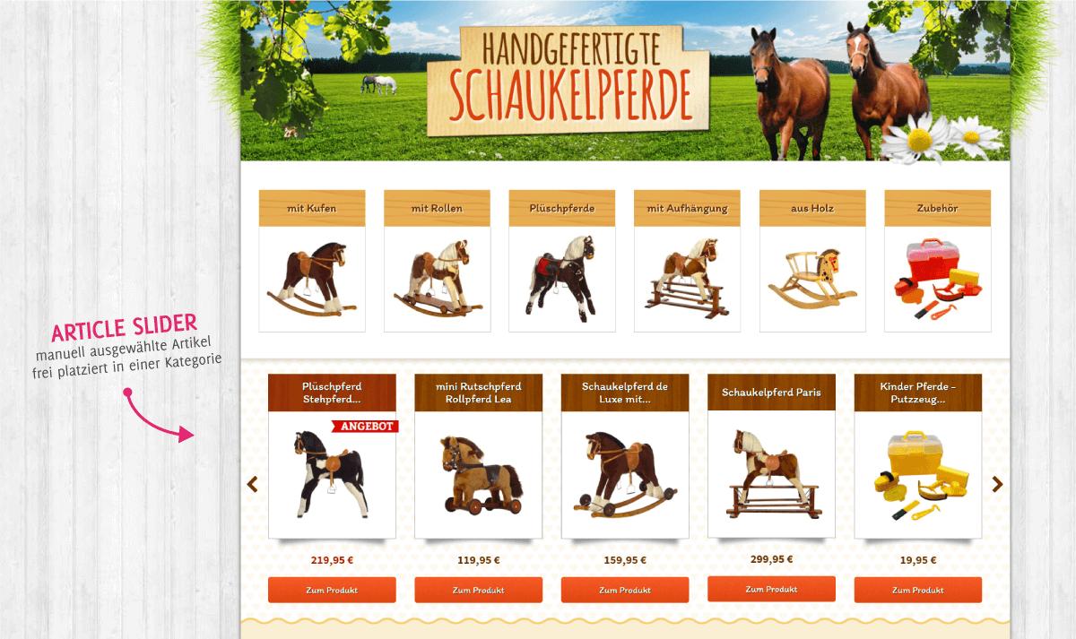 Article Slider in einer Kategorie auf kidsmax.de