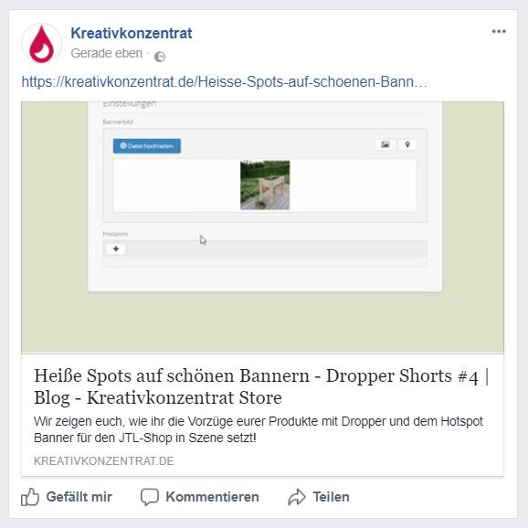 Linkvorschau bei Facebook