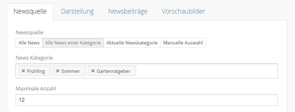News Box News aus mehreren Kategorien