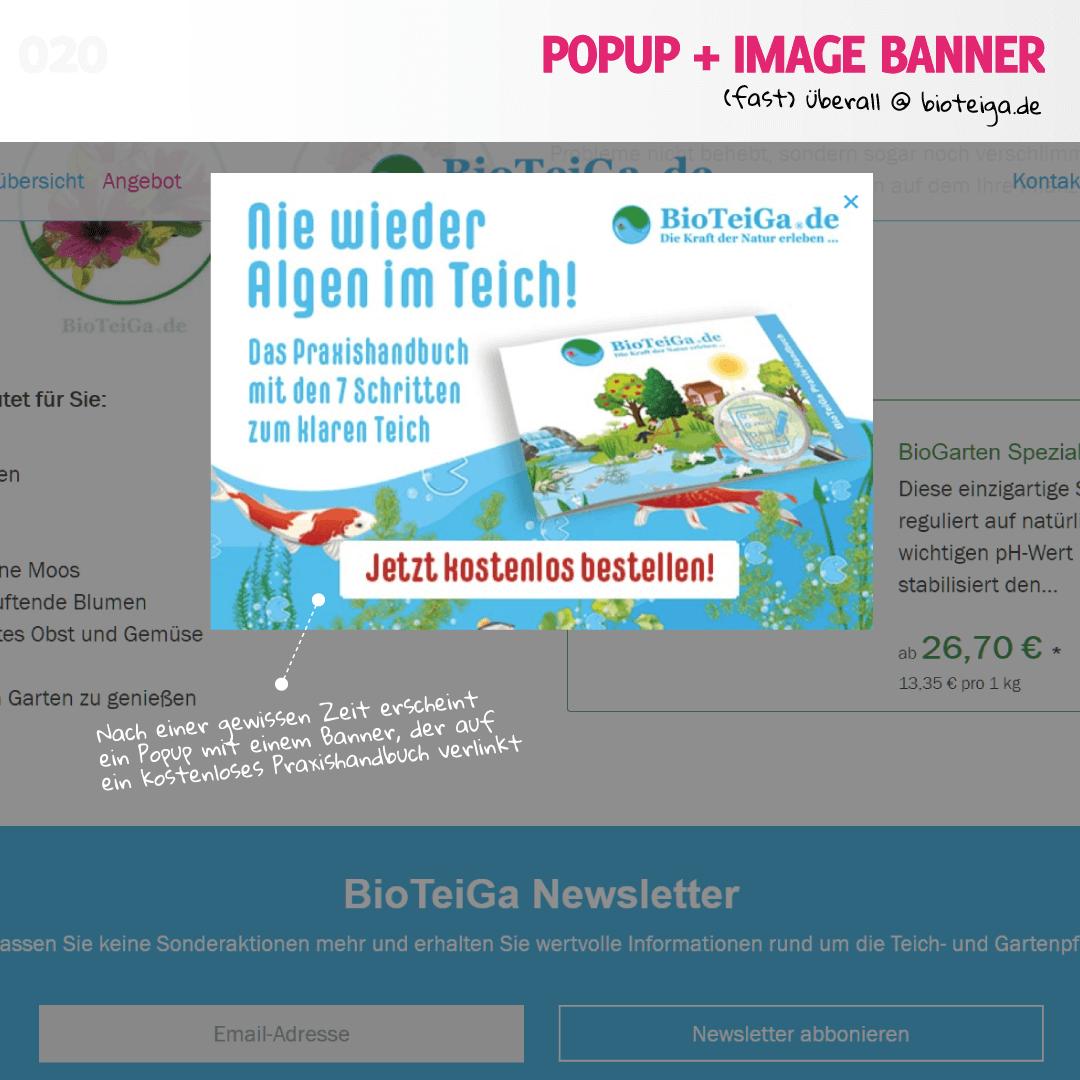 Popup bei bioteiga.de